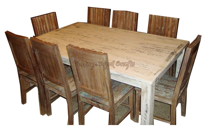 wooden dining table set log wood dining table set
