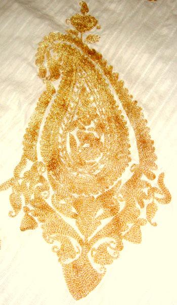 Zari embroidery services hand designer